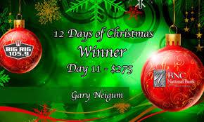 th anniversary essay contest topic bnc national bank blog 12 days of christmas day 11 winner gary neigum bnc 25th anniversary