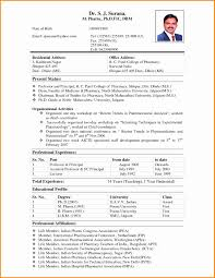Resume Samples For Pharmacy Freshers Nmdnconference Com Example