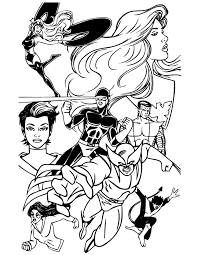 Small Picture Superhero X Men Team For Kids Coloring Page H M Coloring Pages