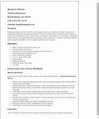 ☜ 40 Entry Level Civil Engineer Resume Sample Enchanting Resume Summary Examples Entry Level