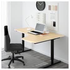 ikea bekant corner desk right sit stand