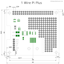 1 wire pi plus communication board for the raspberry pi a and b mechanical drawing