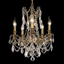 elegant 9205d18fg rc rosalia 22 nbsp 5 light french gold clear crystal chandelier light loading zoom