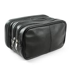 lavievert genuine leather toiletry bag portable travel organizer com