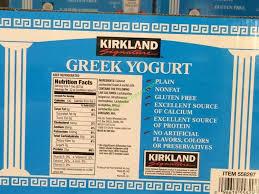 costco 558297 kirkland signature greek nonfat yogurt spec