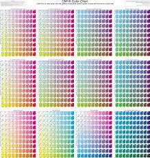 [cmy (k = 0) value below color box; Free Cmyk Color Chart Pdf 69kb 1 Page S