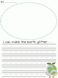 i can make the earth glitter writing prompt bie for earth   i can make the earth glitter writing prompt bie for earth