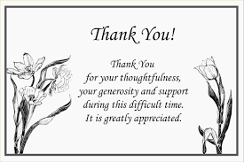 Thank You Sympathy Cards Thank You Response For Sympathy Cards Note Card Awesome Your