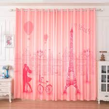 Nice Pink Dreamy Paris Curtains For Girls Bedroom