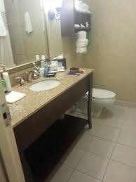 hampton inn charleston historic district spacious bathroom with roomy granite countertop note towel