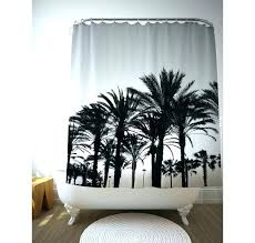 palm shower curtain tree black and white trees tropical bathroom leaf