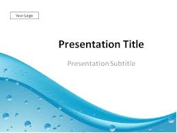 Water Drops Template Free Water Background For Powerpoint Convencion Info