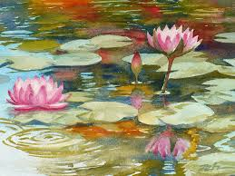 waterlilies painting waterlily pond by janet zeh
