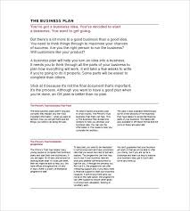 Simple Business Model Template In A Business Plan Financial Plan For
