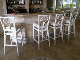 wood white counter height stools