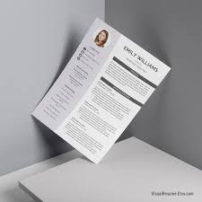 2019 Professional Resume Template Cv Template Ms Word Resume Digital Printable Resume Creative Modern Resume Template Emily Resume
