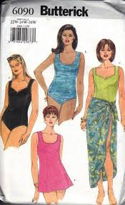 Butterick Plus Size Patterns Enchanting Butterick 48 Plus Size Swimsuit Sewing Pattern [48] 4848