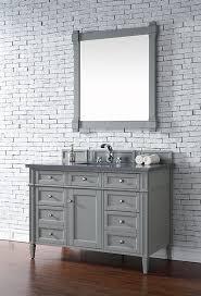 james martin brittany single 48 inch transitional bathroom vanity urban gray