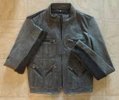 bcbg max azria gray ash moto motorcycle style leather jacket womens s nwt