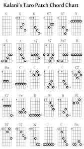 Hawaiian Slack Key Guitar Chord Chart Kalanis Hawaiian Slack Key Taro Patch Tuning Chord Chart