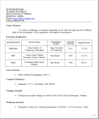 12) Fresher Resume Sample For IT Jobs :-
