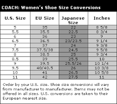Coach Sneakers Size Chart What Size Is It Amyreesewrites