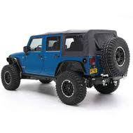 smittybilt replacement soft top with tinted windows and no door uppers black diamond