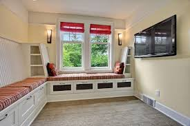tv room furniture ideas. View In Gallery Small TV Room With Custom Built-in Banquette And Storage [Design: Sortun- Tv Furniture Ideas