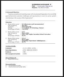 A Good Resume Sample For Fresher Sample Resume For Catering Driver Sample  Resume Objectives For Mechanical