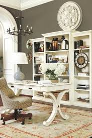traditional hidden home office. Traditional Home Office With Crown Molding, Floral Wall Medallion - Pottery Barn, Hardwood Floors Hidden E