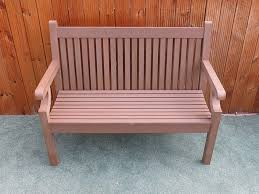 2 seater sandwick winawood bench in brown