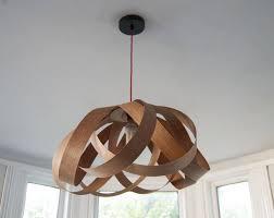 wooden daisy pendant lampshade by randomlights