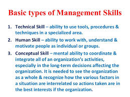 types of management skills nature of management