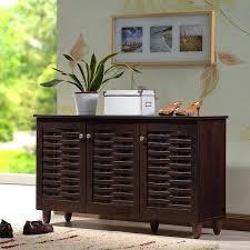 porch amp den park dark brown 3 door shoe cabinet mirrored bathroom white gloss