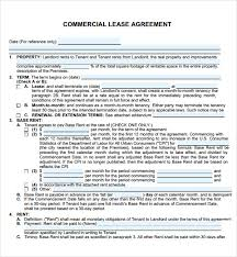 Free Commercial Lease Agreements Forms Free Commercial Lease Abstract Template Template Of Business