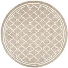 safavieh kelly wheat beige round indoor outdoor area rug common 9 x