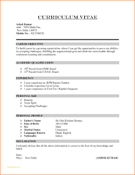 Resume Format Sample For Job Application With How To Write A Basic