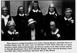 Sisters of Christian Charity: Sr Rosemarie Smith, rear 2nd fr rt; -  Newspapers.com