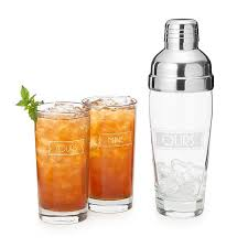 yours mine and ours cocktail shaker set