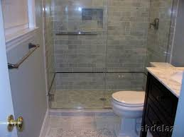 Natural small bathroom design with large tiles