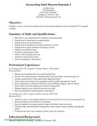 Sample Resume Accounting Clerk Canada Awesome Accounting Clerk