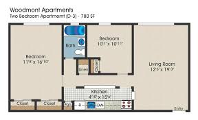 bedroom floor plan. 2 Bedroom Floor Plan, 780 Square Feet Plan
