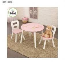 table and chair set for toddlers. pink girls kidkraft round table and 2 chair set toddler for toddlers