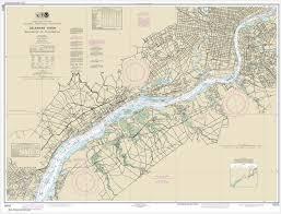 Delaware River Tide Chart Noaa Chart Delaware River Wilmington To Philadelphia 12312