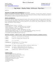 Welder Resume Resumes Coverer Certified Iti Format Doc Welding