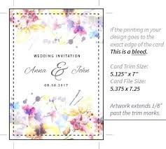 Rsvp Card Sizes Size Of Rsvp Cards Bleed Explained Standard Wedding Card