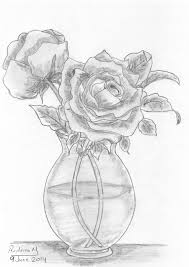 Pencil Sketch Of Rose Flower At Paintingvalley Com Explore