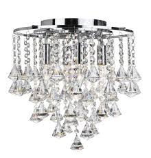 dorchester chrome 4 light chandelier with clear crystal ons