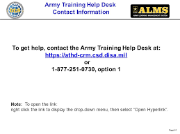 army training help desk contact information to get help contact the army training help desk
