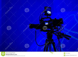 Professional Tv Camera Silhouette Stock Photo Image Of Equipment